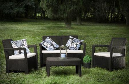 Zahradní set TARIFA lounge set hnědá