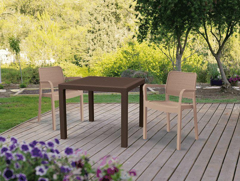 Zahradní stůl MELODY QUARTET hnědý
