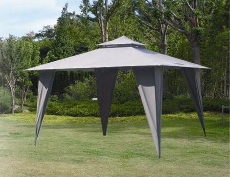 Zahradní altán stan HFL001-PA  šedý 3,5 x 3,5 m
