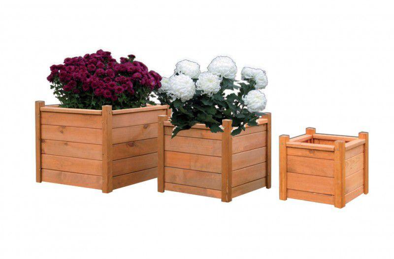 Dřevěný dekorativní květináč  30 x 30 cm