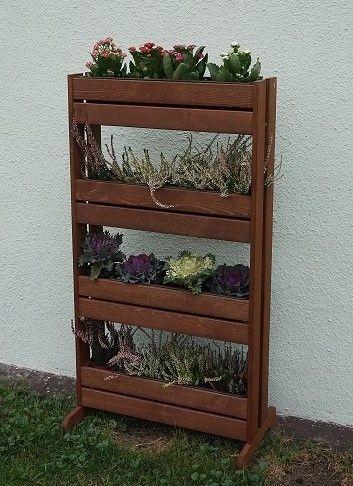 Stojan dřevěný na květináče – 125 x 55 x 40 cm