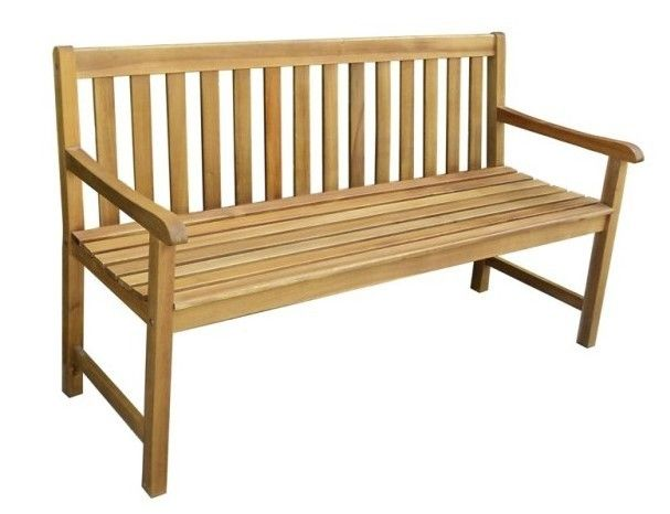 Zahradní dřevěná lavice KIRA - 158 x 88 x 61 cm