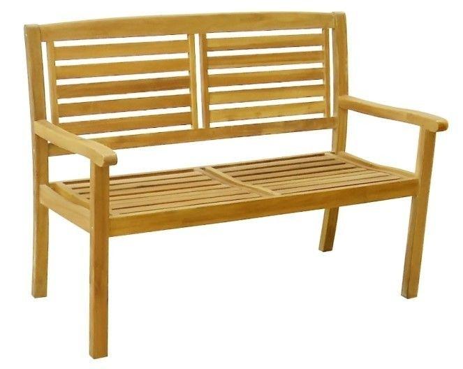 Zahradní dřevěná lavice KRISTINA – 121 cm