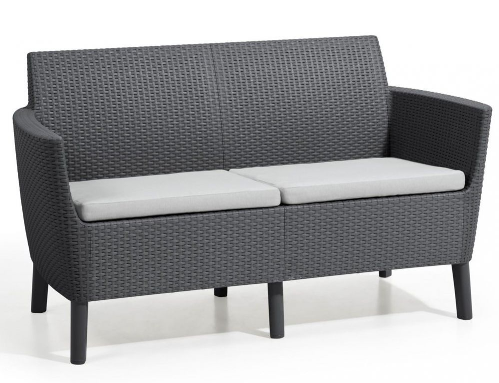 Allibert SALEMO 2 seater sofa - grafit