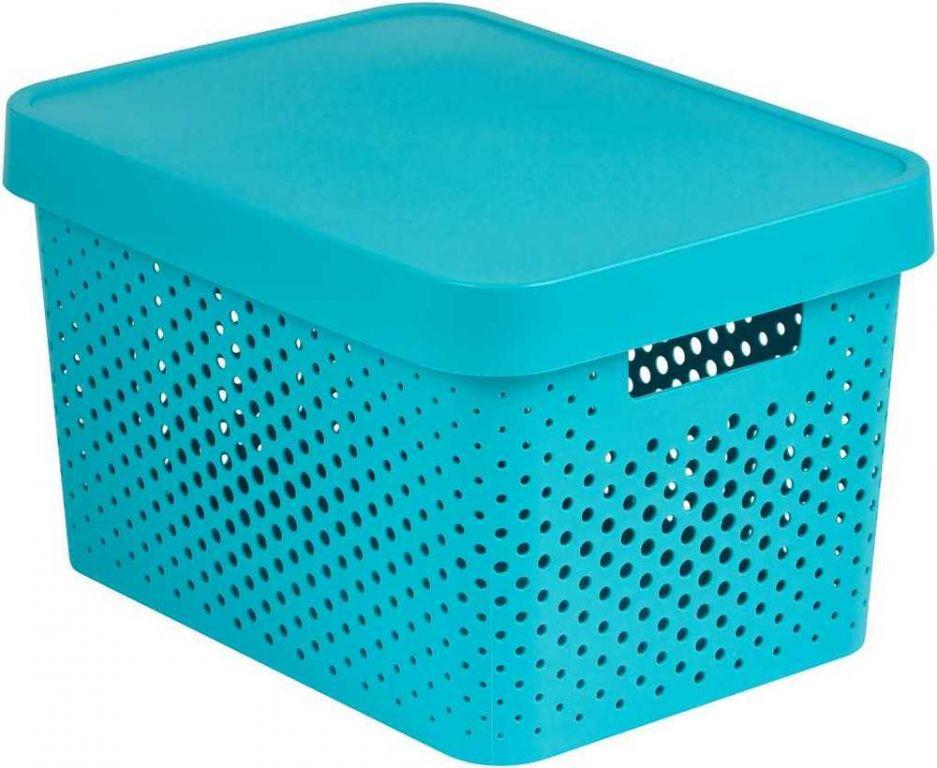 CURVER úložný box INFINITY DOTS – 17 L, modrý