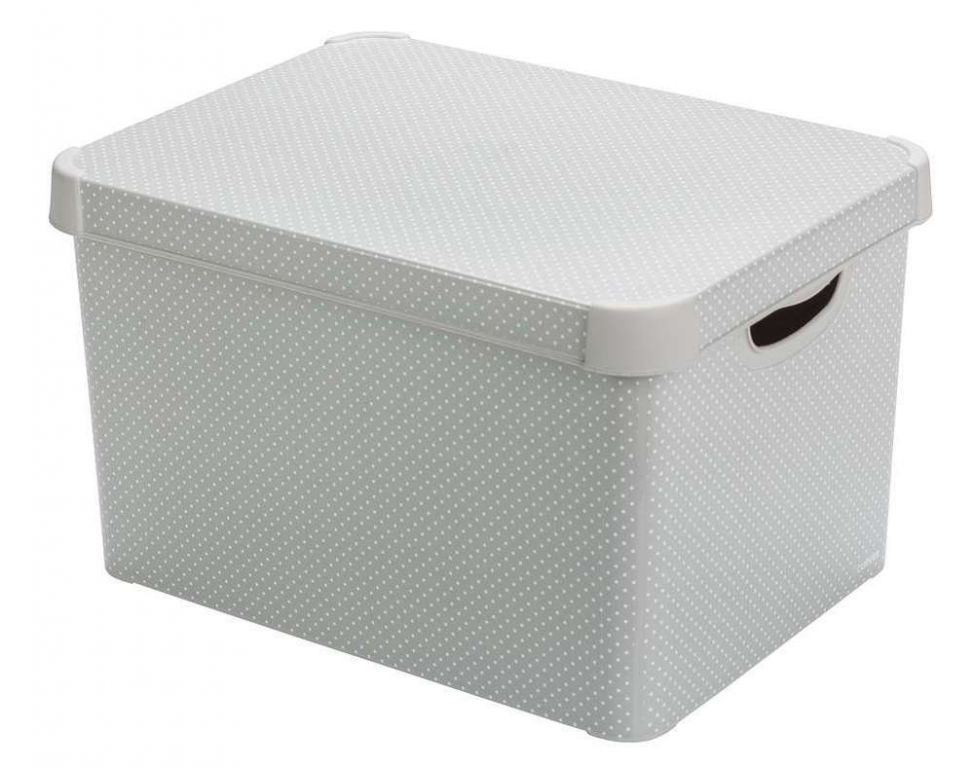 Curver úložný box – vel. L, s puntíky