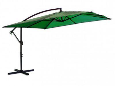 Čtvercový slunečník 8080 boční zelený 270 x 270 cm