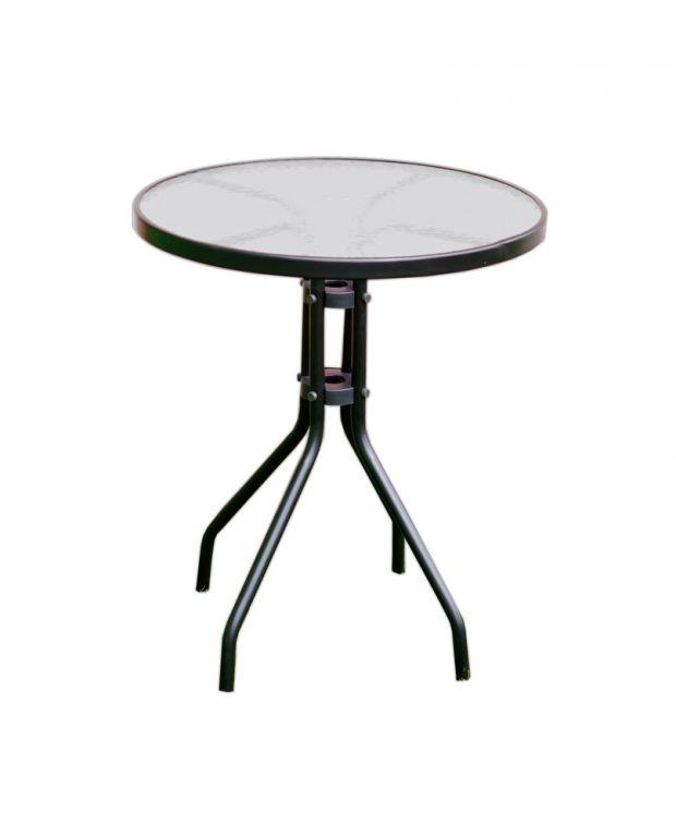 Zahradní stůl se skleněnou deskou ZWT-03 60 cm