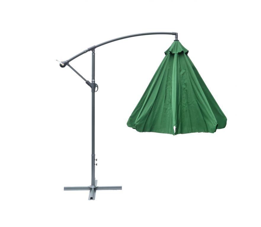 Slunečník  EXCLUSIVE boční – zelený 300cm