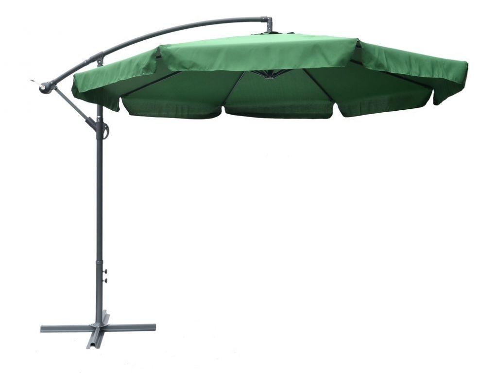 Slunečník EXCLUSIVE boční - zelený 300 cm