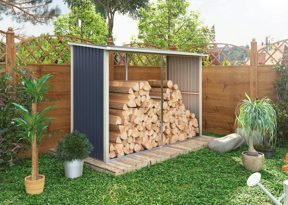Zahradní přístřešek na dřevo WA-C, 190 x 302 x 119 cm