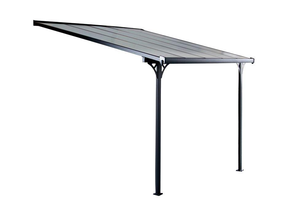 Bruce d zahradní pergola - šedý polykarbonát 314 x 305 cm