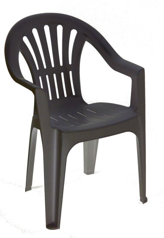 Židle nízká KONA - grafit
