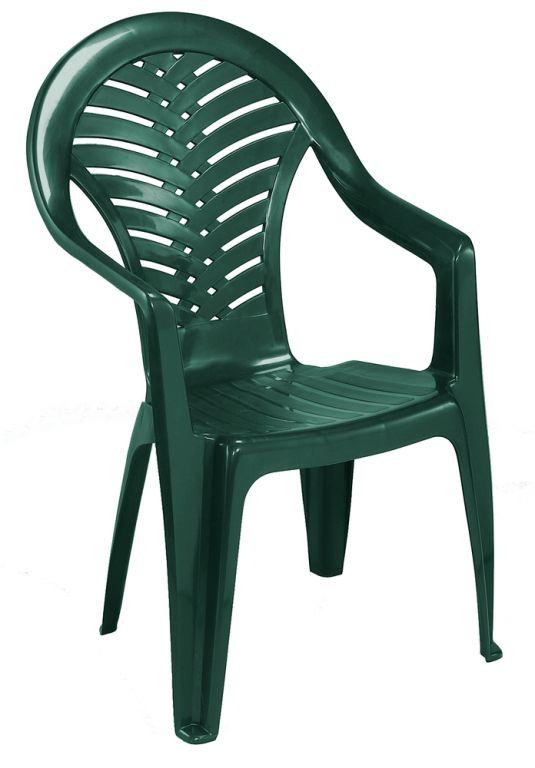 OCEÁN židle vysoká - zelená