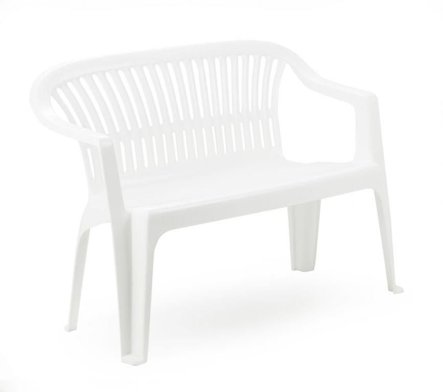 Plastová lavice DIVA - bílá