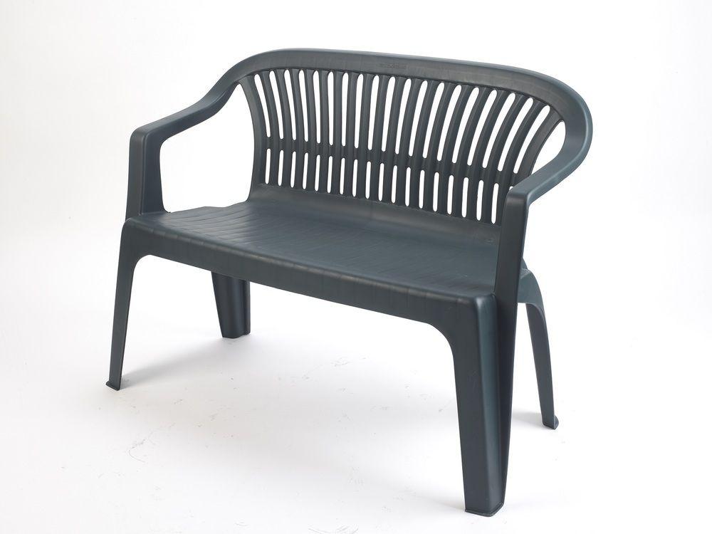 Plastová lavice DIVA - zelená, 114 x 82 x 55 cm