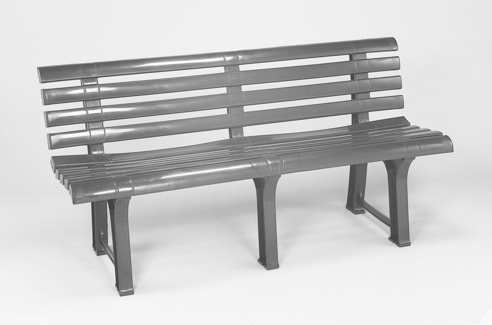 Plastová lavice ORCHIDEA - grafit, 145 x 74 x 49 cm