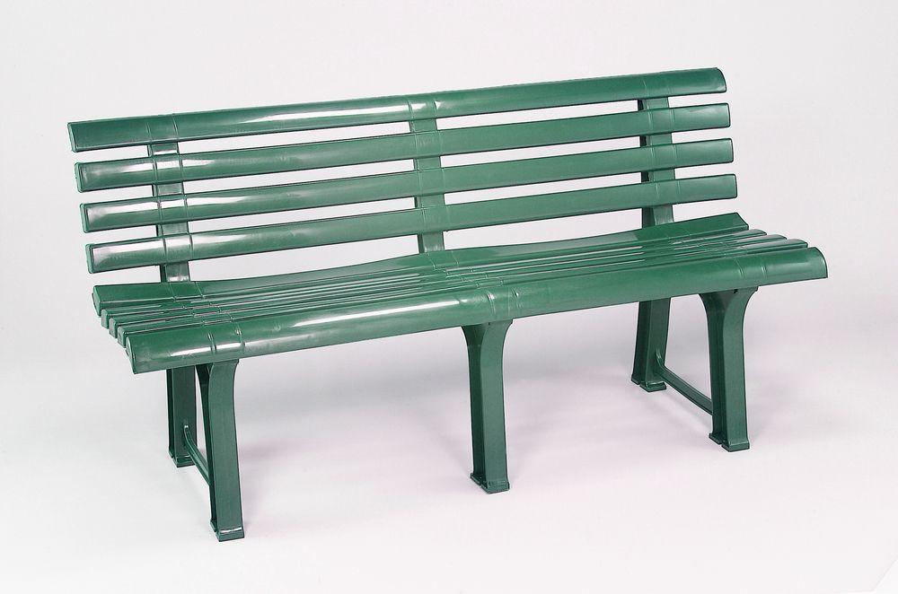 Plastová lavice ORCHIDEA - zelená, 145 x 74 x 49 cm