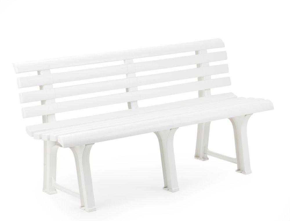 Plastová lavice ORCHIDEA - bílá, 145 x 74 x 49 cm