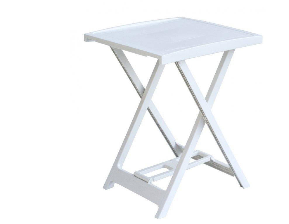 Plastový stolek ARNO - bílý, 65 x 50 x 47 cm