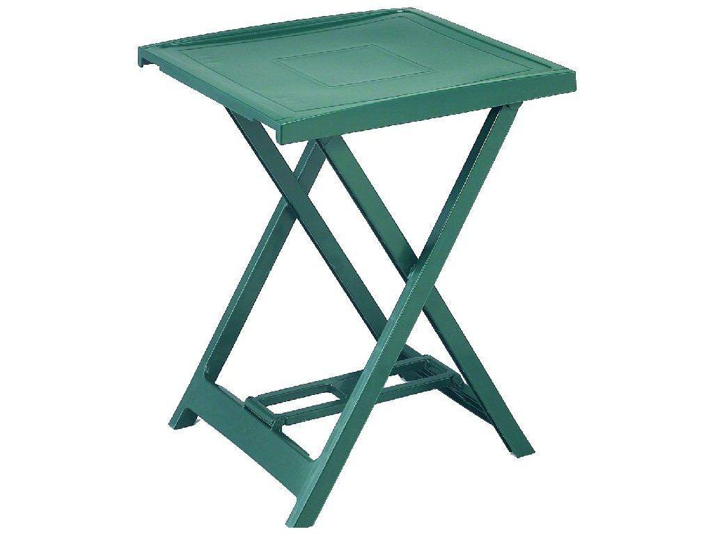 Plastový stolek ARNO - zelený,  65 x 50 x 47 cm