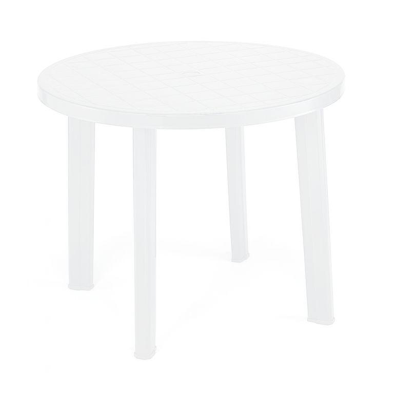 Zahradní stůl TONDO - bílý