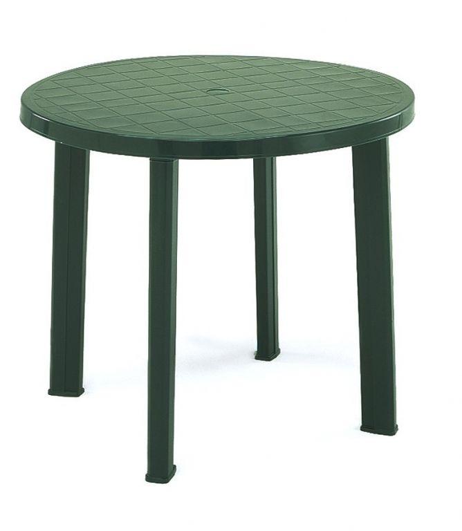 Plastový stůl TONDO - zelený