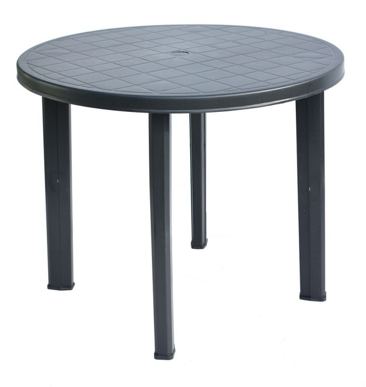 Plastový stůl TONDO - 90 cm, grafit