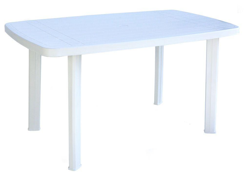 Zahradní plastový stůl FARO - 137 x 85 cm, bílý