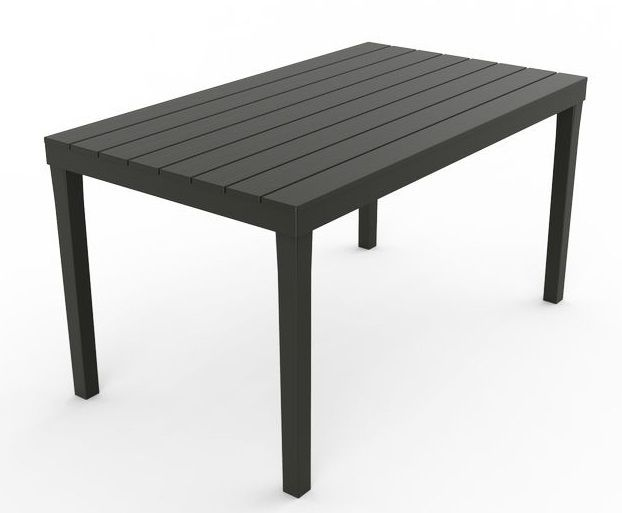 Zahradní plastový stůl SUMATRA - grafit