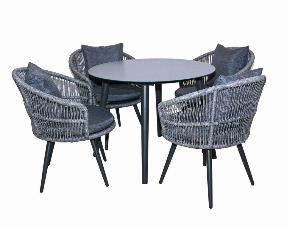 Set zahradního nábytku - tmavě šedá